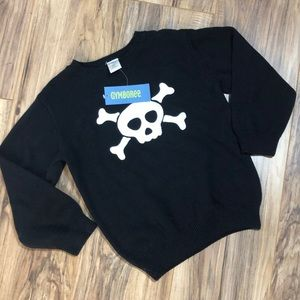 Gymboree 4t NWT skull sweater